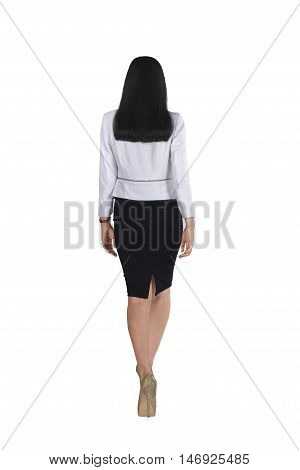Back View Of Asian Business Woman