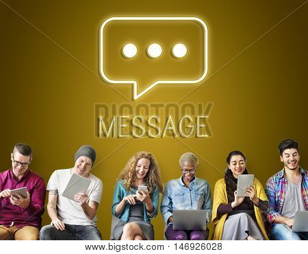 Message Communication Network Connecting Concept