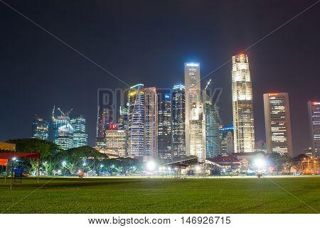 Singapore City Sky Line.