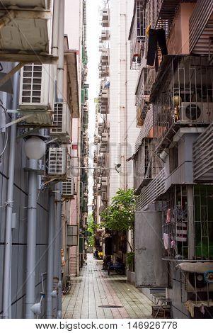 Thin Street In Shenzhen