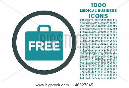 Free Accounting rounded glyph bicolor icon with 1000 medical business icons. Set style is flat pictograms, soft blue colors, white background.