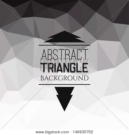 Abstract grey triangle pattern, geometrical vibrant multicolored vector background illustration