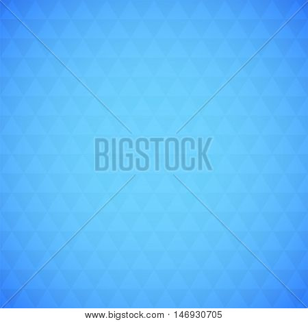 Abstract blue triangle background, simple vector illustration