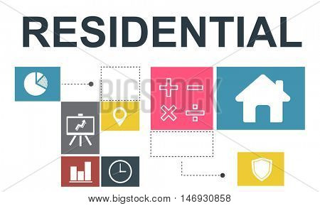 Residential Property Investment House Chart Concept