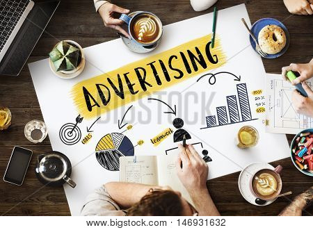 Advertising Strategy Planning Branding Chart Concept