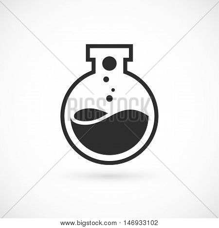 Nano lab logo template, vector science icon