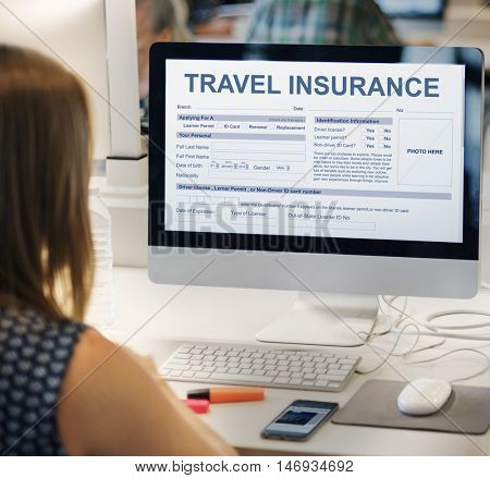 Travel Insurance Form Transportation Concept