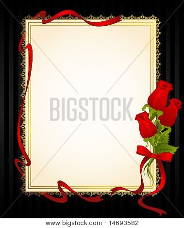 Background with lace and roses
