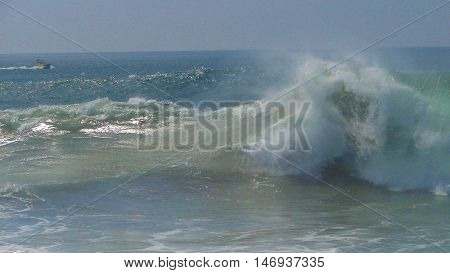 Big waves hit The Wedge in Newport Beach, CA (September 2011)