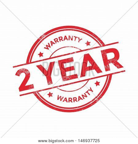 2 year warranty icon isolated on white background