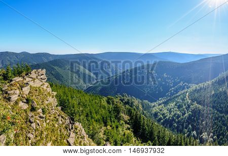 The highest mountain Praded of Czech mountains Jeseniky