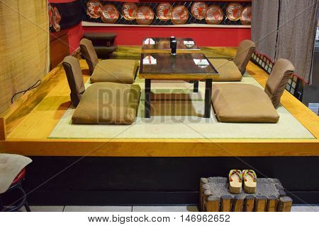 Tatami Room which is a traditional room in the Japanese culture where people can enjoy formal dining