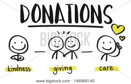 Charity Donations Fund raising Nonprofit Volunteer Concept