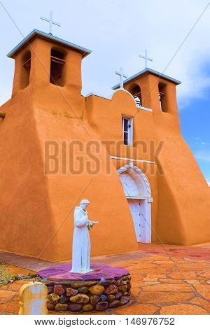 San Francisco de Asis Mission Church opened in 1772 with its Spanish style architecture taken in Taos, NM