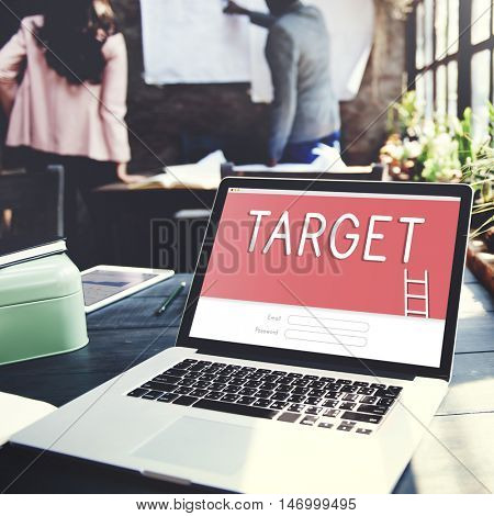 Target Goals Strategy Login Graphic Concept