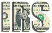 IRS - Internal Revenue Service. US Dollar texture. 3D illustration. poster
