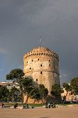white tower in Thessaloniki Greece poster