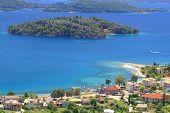 Harbor of Nidri on Lefkas island Greece poster