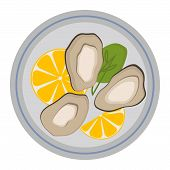Fresh mussel gastronomy ingredient on white background. Shellfish nutrition nature food freshness mussels. Dinner cooked mussels gourmet healthy cuisine seafood gastronomy ingredient vector. poster