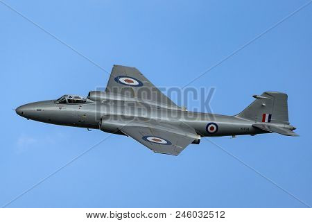 Raf Waddington, Lincolnshire, Uk - July 7, 2014: Former Royal Air Force English Electric Canberra Pr