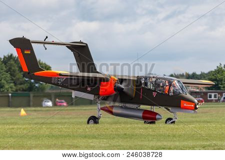 Raf Waddington, Lincolnshire, Uk - July 6, 2014: Former German Air Force (luftwaffe) North American