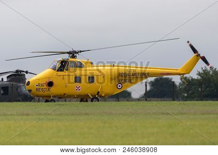 Raf Waddington, Lincolnshire, Uk - July 5, 2014: Former Royal Air Force, (raf) Westland Ws-55-3 Whir