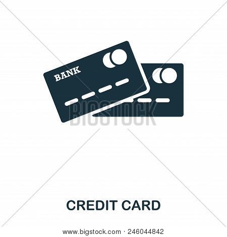 Credit Card Icon. Mobile App, Printing, Web Site Icon. Simple Element Sing. Monochrome Credit Card I