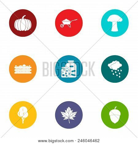Daily Bread Icons Set. Flat Set Of 9 Daily Bread Vector Icons For Web Isolated On White Background