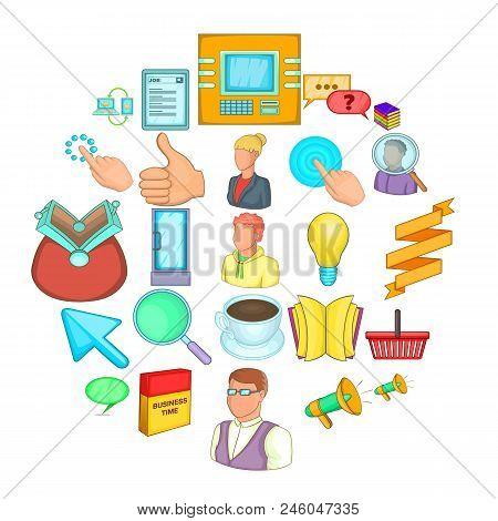 Monetary Icons Set. Cartoon Set Of 25 Monetary Vector Icons For Web Isolated On White Background