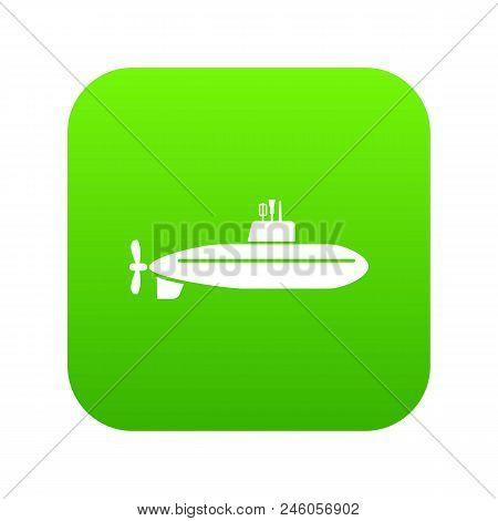 Large Submarine Icon. Simple Illustration Of Large Submarine Vector Icon For Web.