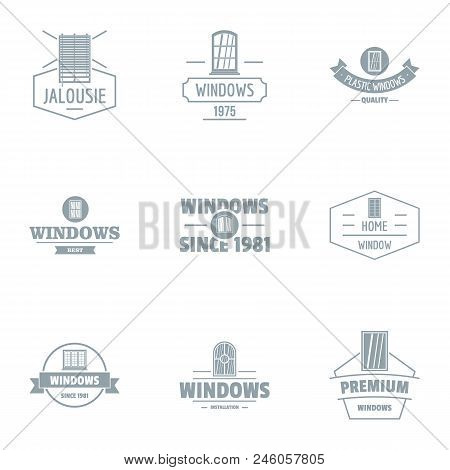 Fix Window Logo Set. Simple Set Of 9 Fix Window Vector Logo For Web Isolated On White Background