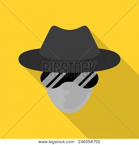 Incognito Net Surfer Icon. Flat Illustration Of Incognito Net Surfer Vector Icon For Web Design