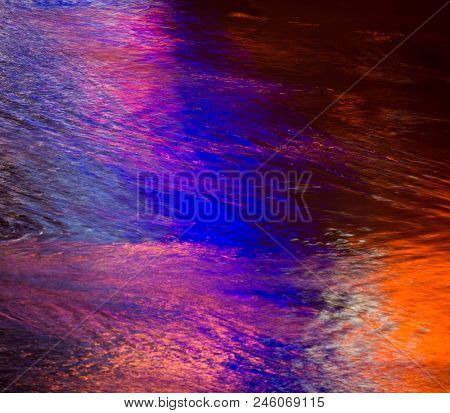 Colorful Light Reflection On The Water