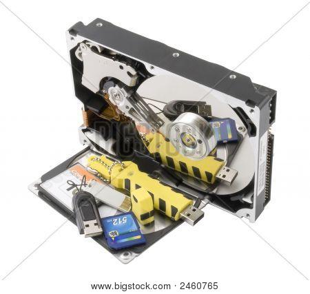 Hard Disk And Flash-Card
