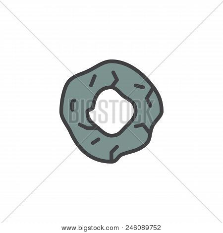 Prehistoric Wheel Filled Outline Icon, Line Vector Sign, Linear Colorful Pictogram Isolated On White