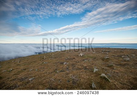 A Gorgeous View From Slieve Donard With Low Lying Clouds.