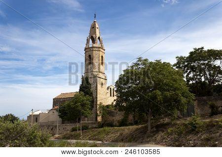 Catholic Church Of Sant Jaume. Creixell, Costa Dorada, Tarragona, Spain.