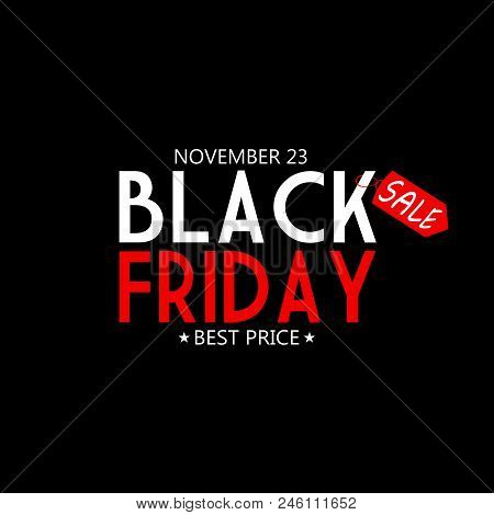 BLACK FRIDAY 2018 AS AN ILLUSTRATION WITH TEXT ON BLACK BACKGROUND. SHOPPING BACKGROUND. BLACK FRIDAY 2018 SUPER SALES.