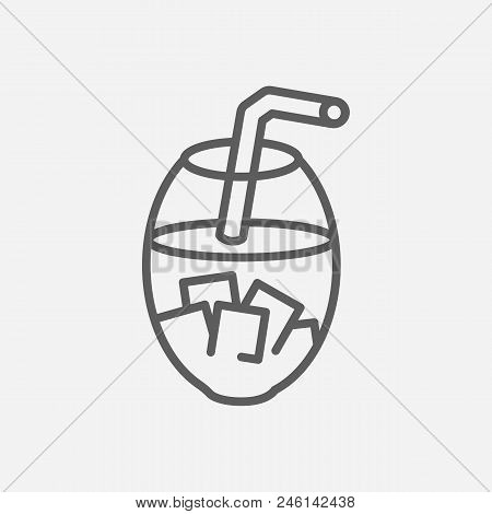 Thai Tea Icon Line Symbol. Isolated Vector Illustration Of  Icon Sign Concept For Your Web Site Mobi