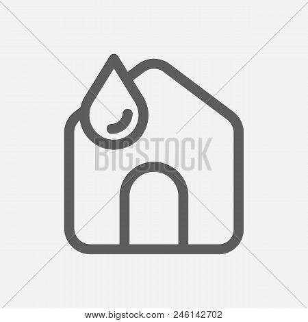 Clean House Icon Line Symbol. Isolated  Illustration Of  Icon Sign Concept For Your Web Site Mobile