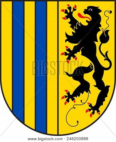 Coat Of Arms Of Chemnitz Is The Third-largest City In The Free State Of Saxony, Germany. Vector Illu