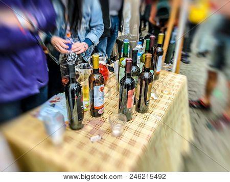 Tbilisi, Georgia - May 12, 2018: Festival Of Georgian Wine And Winemaking In Mtatsminda Park On Funi