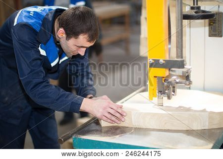 Belarus, The City Of Gomel, On April 26, 2018. Furniture Manufacturing. Open Day. Carpenter Makes Fu