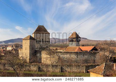 The Garbova Fortress In Transylvania. Romania, Europe.