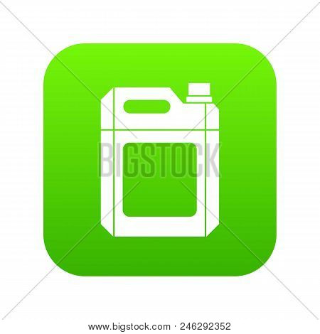 Plastic Jerry Can Icon Digital Green For Any Design Isolated On White Vector Illustration