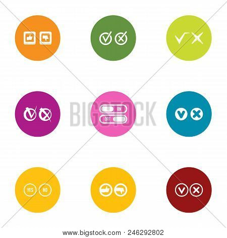 Accept Icons Set. Flat Set Of 9 Accept Vector Icons For Web Isolated On White Background
