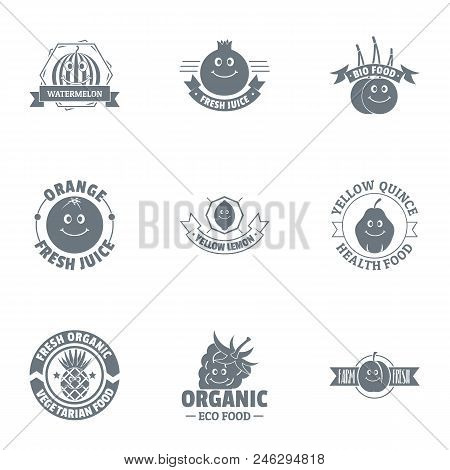Environmentally Amicable Logo Set. Simple Set Of 9 Environmentally Amicable Vector Logo For Web Isol