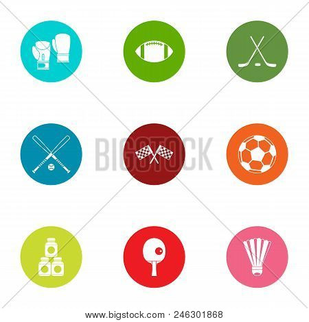 Sport Age Icons Set. Flat Set Of 9 Sport Age Vector Icons For Web Isolated On White Background
