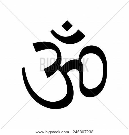 Hinduism Om Religious Symbol Simple Icon. Hinduism Om Symbol.
