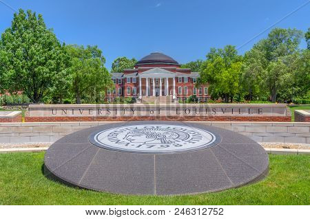 University Of Louisville Entrance And Logo